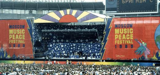 Concert de la paix, Moscou, 1989 (crédits : TASS / Vladimir Yatsina)