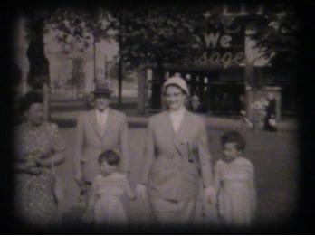 Filmstill Schmalfilm: Westberlin 1958: Besuch der Verwandtschaft. Quelle: Sebastian Thalheim privat © mit freundlicher Genehmigung